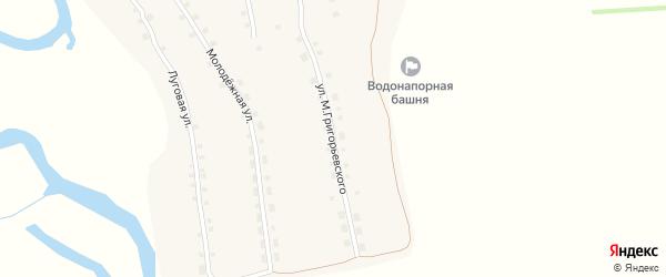 Улица М.Григорьевского на карте села Андроново с номерами домов