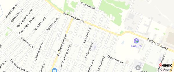 Улица Павлова на карте Рубцовска с номерами домов