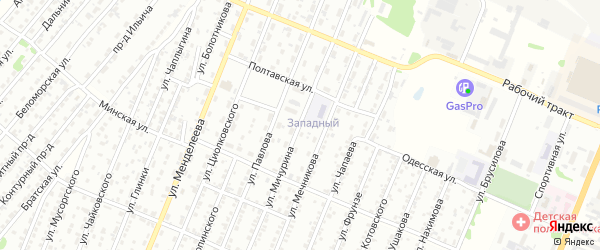 Улица Мичурина на карте Рубцовска с номерами домов