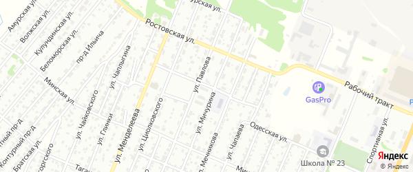 Полтавская улица на карте Рубцовска с номерами домов