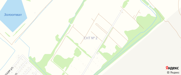 9-я улица на карте садового некоммерческого товарищества N 12 с номерами домов