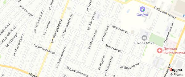 Улица Мечникова на карте Рубцовска с номерами домов