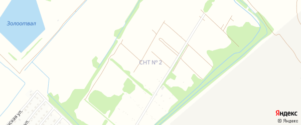 Торговая улица на карте садового некоммерческого товарищества N 3 с номерами домов