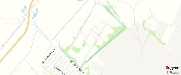 Карта садового некоммерческого товарищества N 2 города Рубцовска в Алтайском крае с улицами и номерами домов