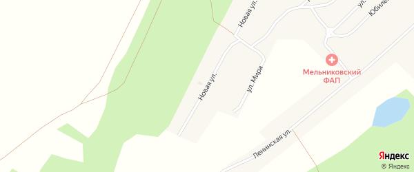 Новая улица на карте села Мельниково с номерами домов