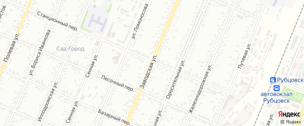 Заводская улица на карте Рубцовска с номерами домов