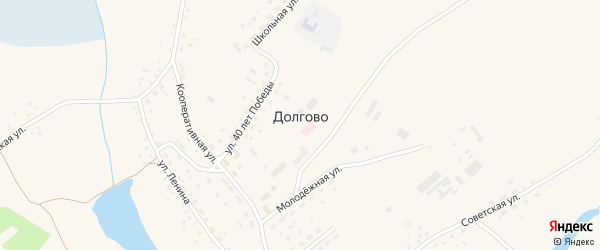 Улица Ленина на карте села Долгово с номерами домов