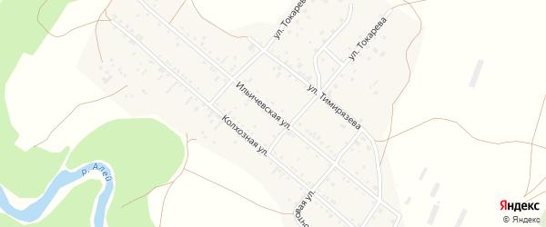 Ильичевская улица на карте села Локтя с номерами домов