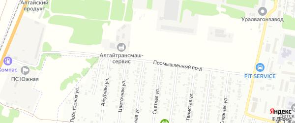 Промышленный проезд на карте Рубцовска с номерами домов