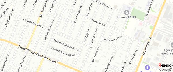 Улица Фрунзе на карте Рубцовска с номерами домов