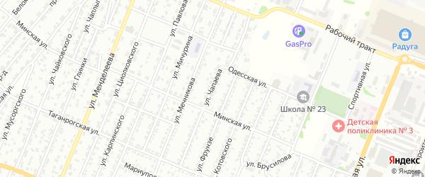 Улица Чапаева на карте Рубцовска с номерами домов