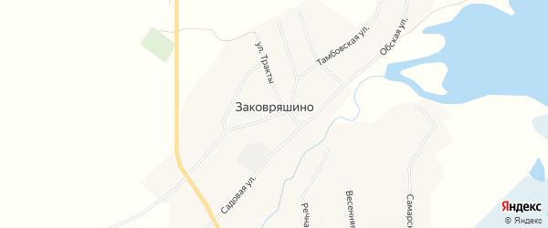 Карта села Заковряшино в Алтайском крае с улицами и номерами домов