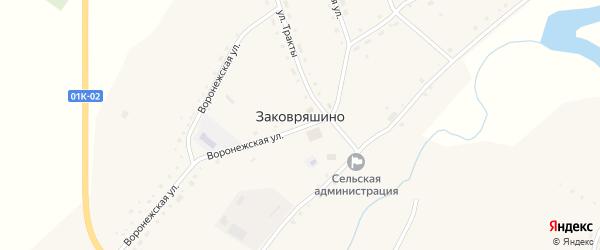 Речная улица на карте села Заковряшино с номерами домов