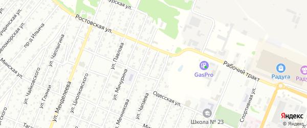Проезд Калашникова на карте Рубцовска с номерами домов