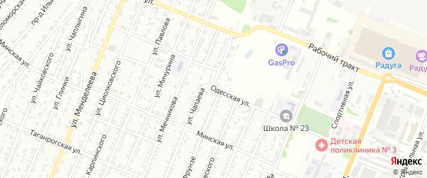 Одесская улица на карте Рубцовска с номерами домов