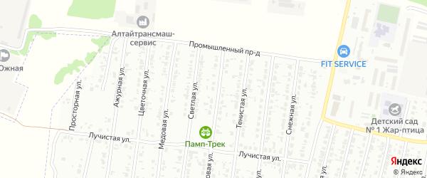 Кленовая улица на карте садового некоммерческого товарищества N 12 с номерами домов
