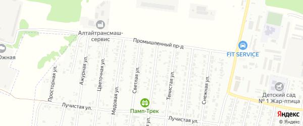Кленовая улица на карте садового некоммерческого товарищества N 8 с номерами домов