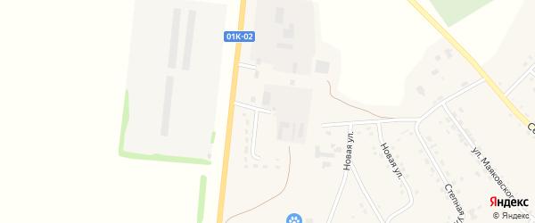 Улица Заготзерно на карте села Крутихи с номерами домов