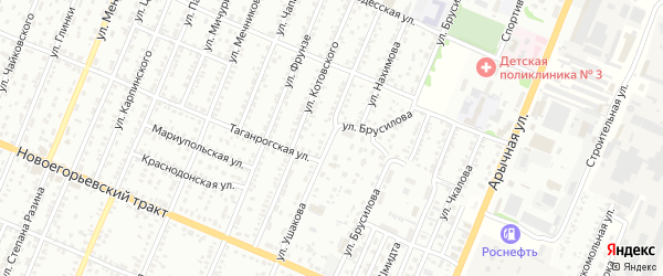 Улица Ушакова на карте Рубцовска с номерами домов