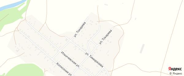 Улица Токарева на карте села Локтя с номерами домов