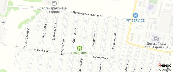 Кленовая улица на карте садового некоммерческого товарищества N 15 с номерами домов