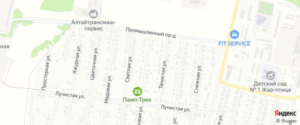 Кленовая улица на карте садового некоммерческого товарищества N 9 с номерами домов