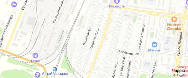 Вагонный проезд на карте Рубцовска с номерами домов