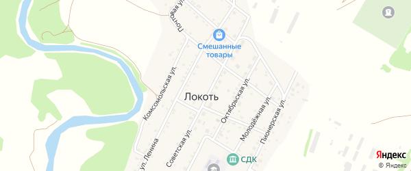 Улица Ленина на карте села Локтя с номерами домов