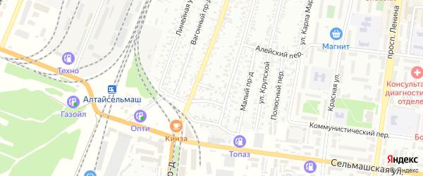 Улица Курчатова на карте Рубцовска с номерами домов