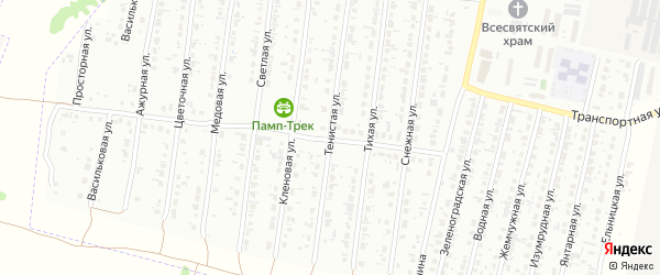 Тенистая улица на карте Рубцовска с номерами домов