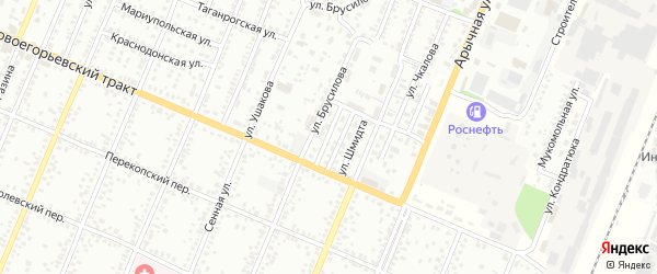 Проезд Челюскинцев на карте Рубцовска с номерами домов