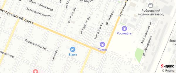 Проезд Дежнева на карте Рубцовска с номерами домов