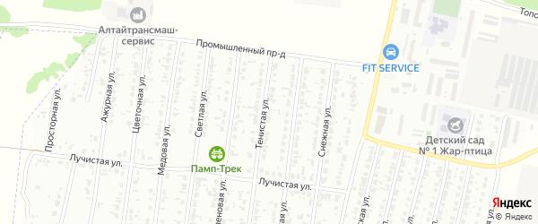 Тенистая улица на карте садового некоммерческого товарищества N 13 с номерами домов