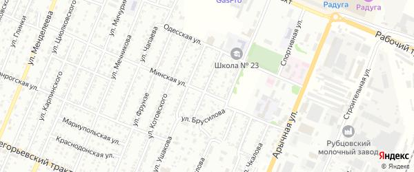 Улица Нахимова на карте Рубцовска с номерами домов