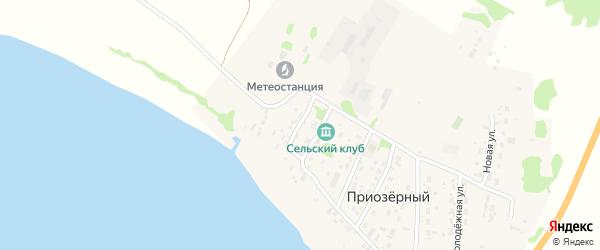 Аэрофлотская улица на карте Приозерного поселка с номерами домов