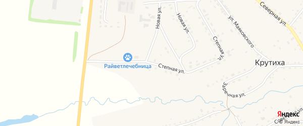 Степная улица на карте села Крутихи с номерами домов