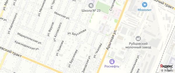 Улица Халтурина на карте Рубцовска с номерами домов