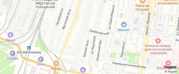 Малая улица на карте садового некоммерческого товарищества N 3 с номерами домов