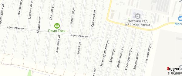 Снежная улица на карте Рубцовска с номерами домов