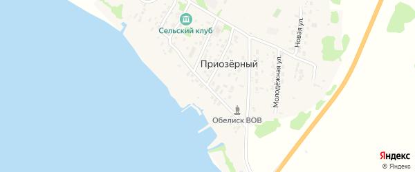 Заводская улица на карте Приозерного поселка с номерами домов