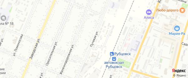 Путевая улица на карте Рубцовска с номерами домов