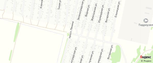 Зеленоградская улица на карте Рубцовска с номерами домов