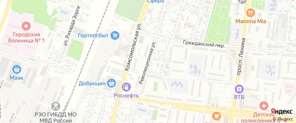 Революционная улица на карте Рубцовска с номерами домов