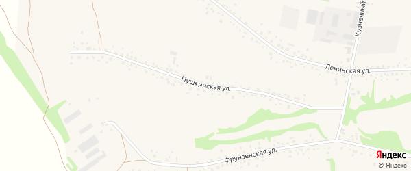Пушкинская улица на карте села Романово с номерами домов