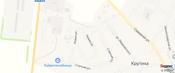 Новая улица на карте села Крутихи с номерами домов
