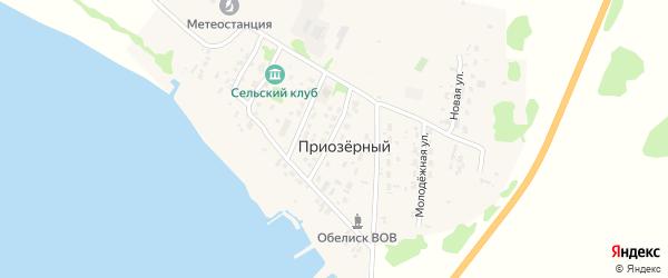 Приозерная улица на карте Приозерного поселка с номерами домов