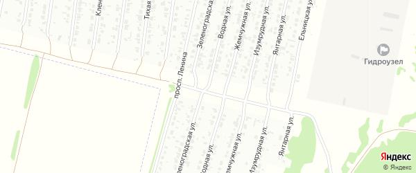 Водная улица на карте Рубцовска с номерами домов