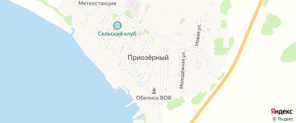 Озерная улица на карте Приозерного поселка с номерами домов