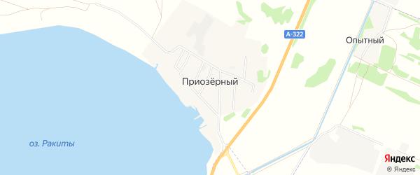 Карта Приозерного поселка в Алтайском крае с улицами и номерами домов