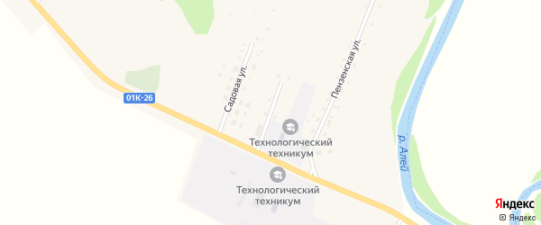 Целинная улица на карте села Новомихайловки с номерами домов